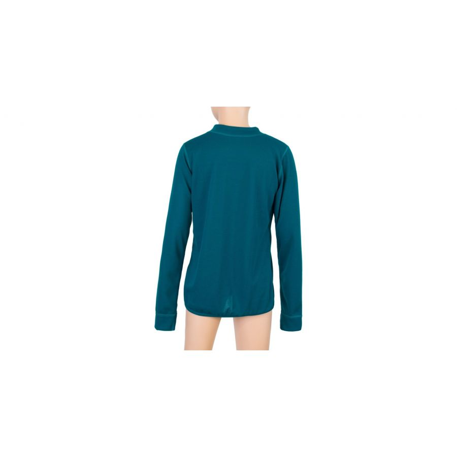 SENSOR DOUBLE FACE SET LOGO SET tricou maneca lunga + pantaloni de corp copii(verde)