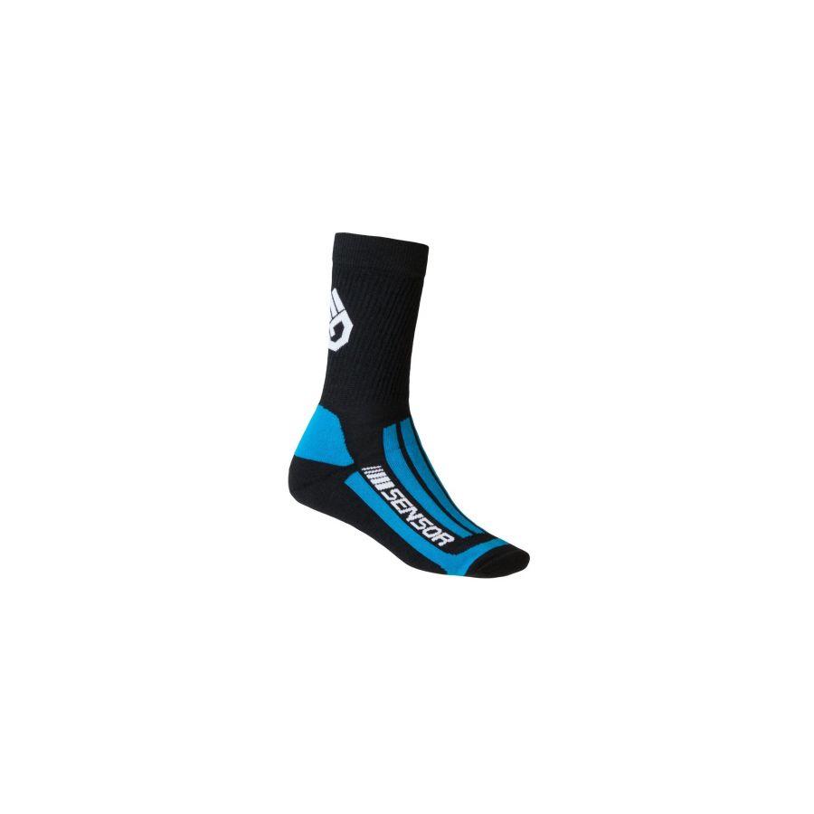 Ciorapi merino pt ture, hiking, SENSOR TREKING EVOLUTION uni (negru/albastru)