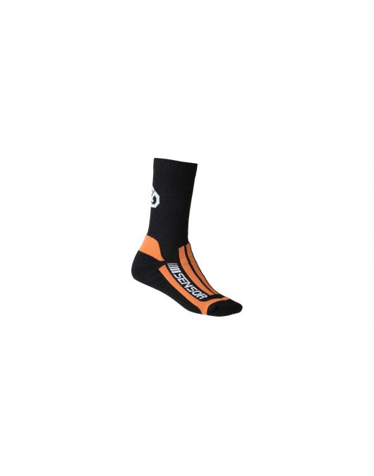 Ciorapi merino pt ture, hiking, SENSOR TREKING EVOLUTION uni (negru/orange)