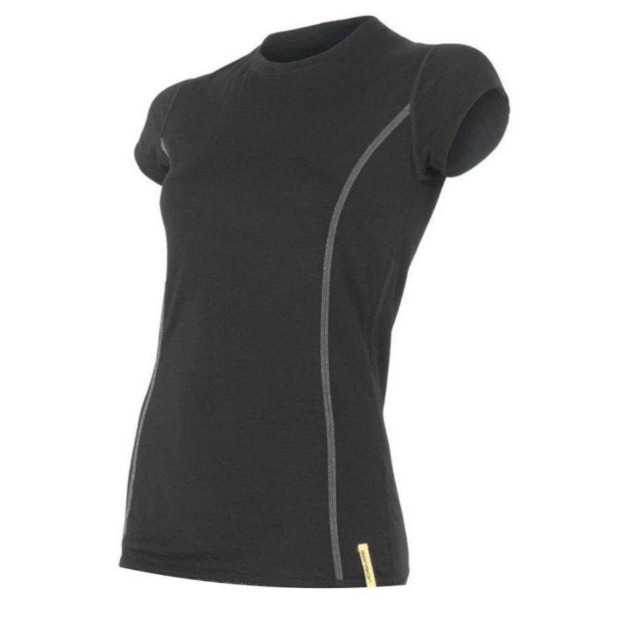 SENSOR MERINO ACTIVE tricou maneca scurta femei (negru)