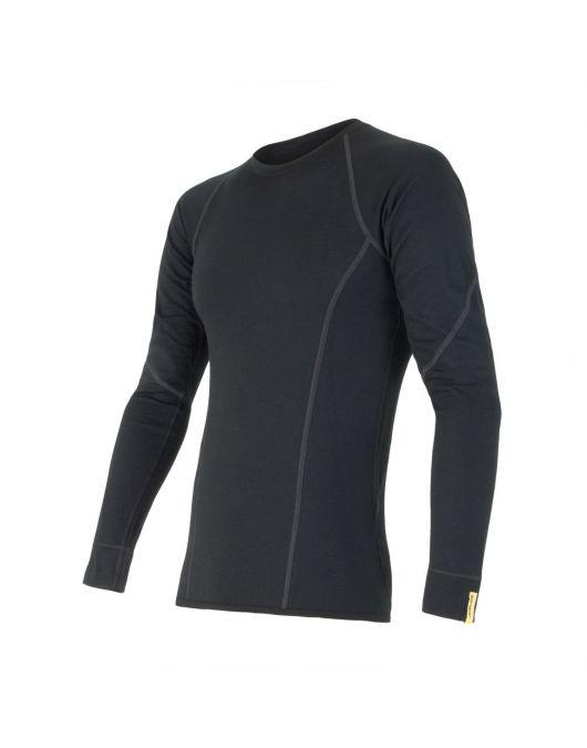 SENSOR MERINO ACTIVE tricou maneca lunga barbati (negru)
