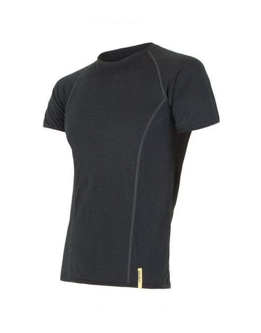 SENSOR MERINO ACTIVE tricou maneca scurta barbati (negru)