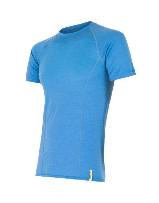 SENSOR MERINO ACTIVE tricou maneca scurta barbati (albastru)