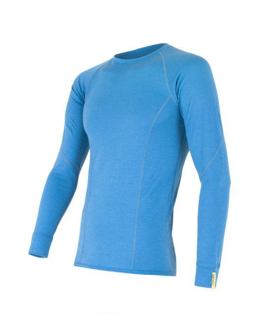 SENSOR MERINO ACTIVE tricou maneca lunga barbati (albastru)