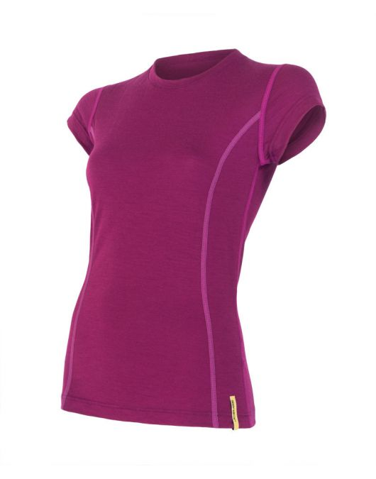 SENSOR MERINO ACTIVE tricou maneca scurta femei (mov)