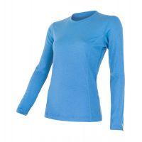 Bluza 100% merino, SENSOR MERINO ACTIVE TEE LS femei (albastru)