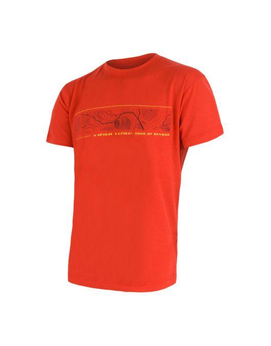 SENSOR MERINO ACTIVE PT tricou maneca scurta barbati (rosu)