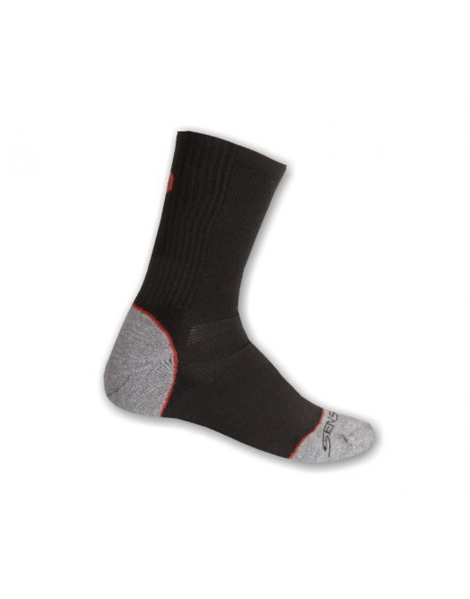 Ciorapi merino pt ture, hiking, SENSOR EXPEDITION MERINO uni (negru/rosu)