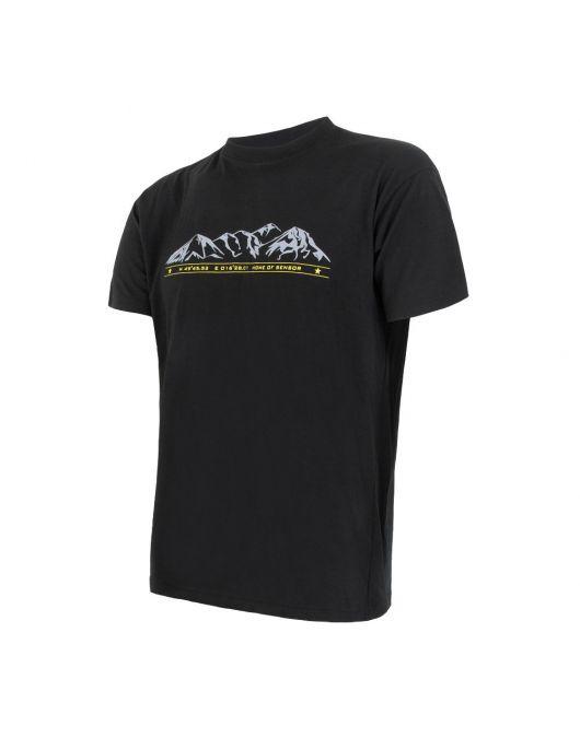 SENSOR MERINO ACTIVE PT tricou maneca scurta barbati (negru)