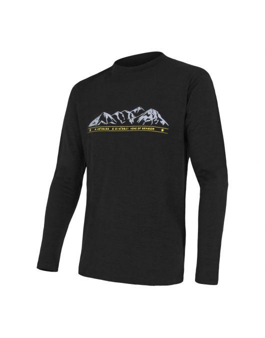 SENSOR MERINO ACTIVE PT tricou maneca lunga barbati (negru)