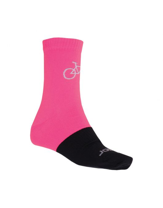Ciorapi merino pt ture, hiking, ciclism, alergare, SENSOR TOUR MERINO WOOL uni (pink/negru)