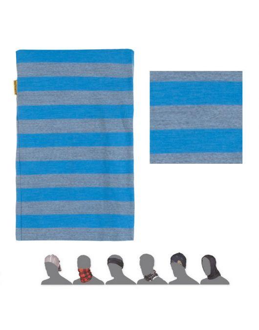 SENSOR MERINO ACTIVE bandana UNI (albastru cu dungi)