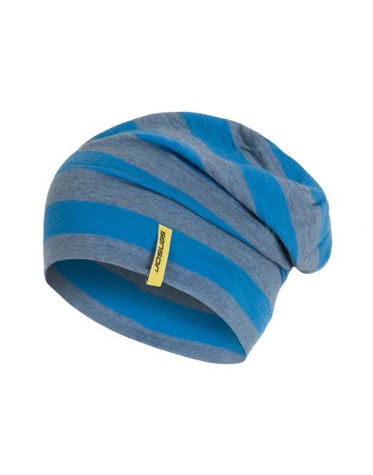 SENSOR MERINO ACTIVE sapca UNI (albastru cu dungi)
