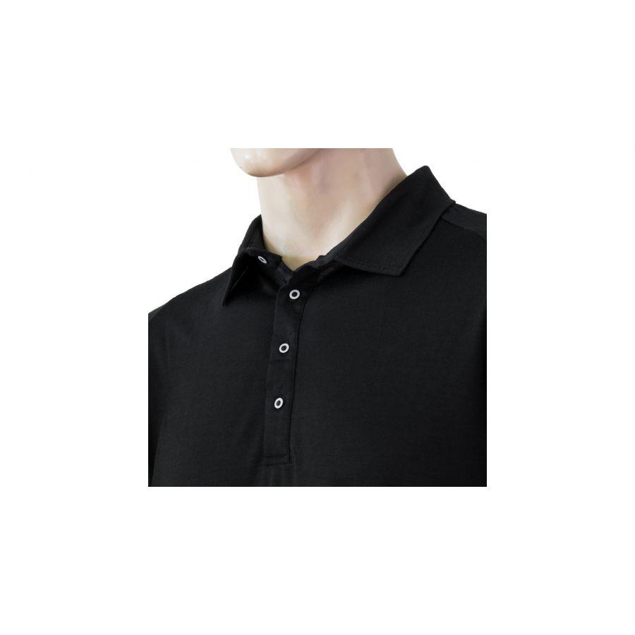 SENSOR MERINO ACTIVE tricou maneca scurta polo barbati (negru)