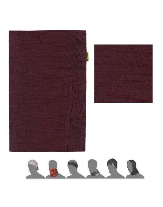 SENSOR MERINO AIR bandana UNI (port red)