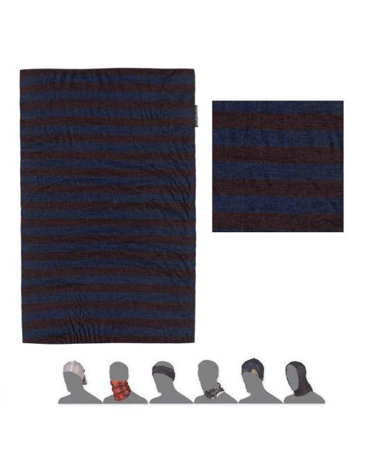 SENSOR MERINO AIR bandana UNI (albastru/rosu cu dungi)