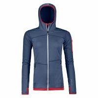 Bluza femei Ortovox Merino Fleece Light Hoody pt activitati alpine