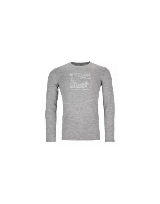 Bluza de corp Ortovox 185 Merino Print Contrast barbati