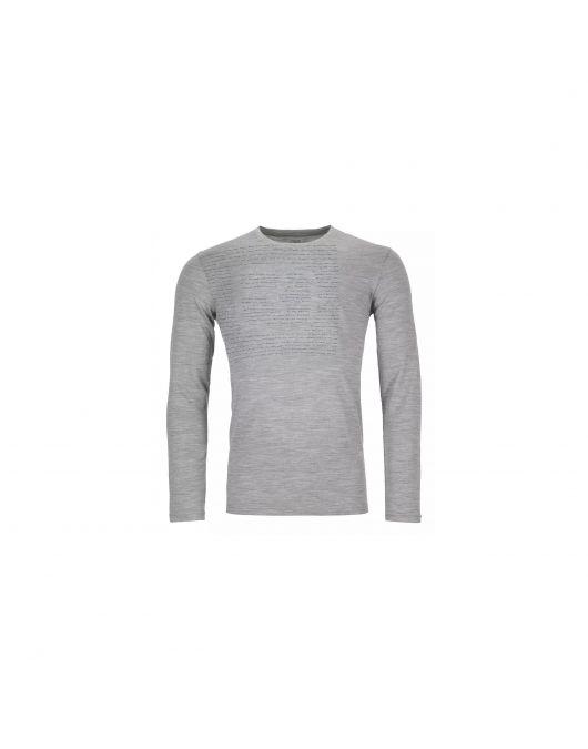 Bluza de corp Ortovox 185 Merino Logo Long Sleeve barbati