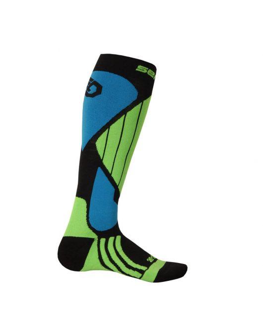 Ciorapi Unisex SENSOR SNOW PRO (negru/verde/albastru)